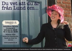 Kom och lyssna på Lundahistorier i december under Thomanders Jul i Lund! (Foto: Kristian W Nielsen)